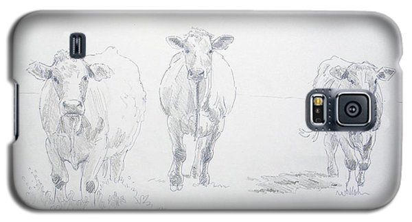Pencil Drawing Of Three Cows Galaxy S5 Case