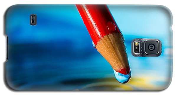 Pencil Water Drop Galaxy S5 Case