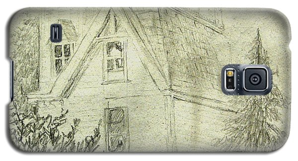 Pencil Sketch Of Old House Galaxy S5 Case by Joseph Hawkins