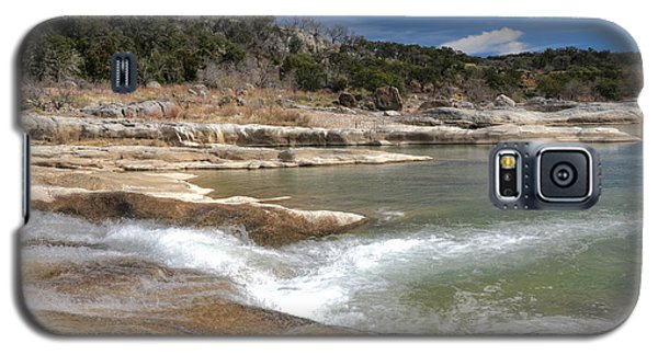 Galaxy S5 Case featuring the photograph Pendernales Falls Texas by Martin Konopacki