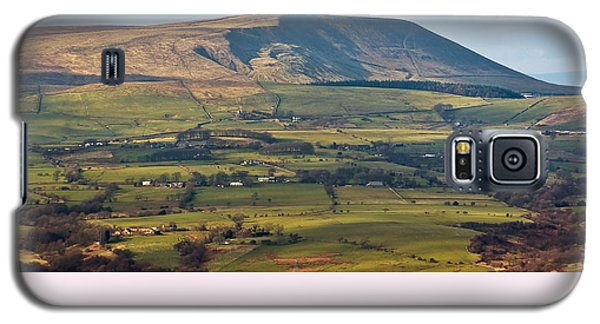 Galaxy S5 Case featuring the photograph Pendle Hill Lancashire England by Jane McIlroy