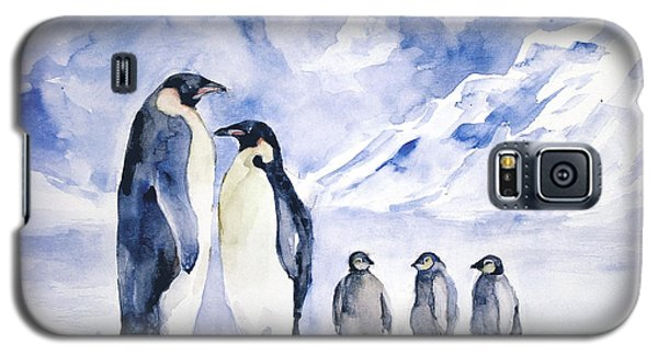 Galaxy S5 Case featuring the painting Penguin Family by Faruk Koksal