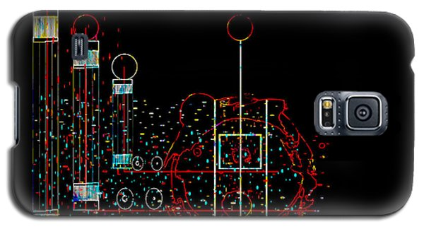 Galaxy S5 Case featuring the painting Penman Original - Recycled Art 2 by Andrew Penman