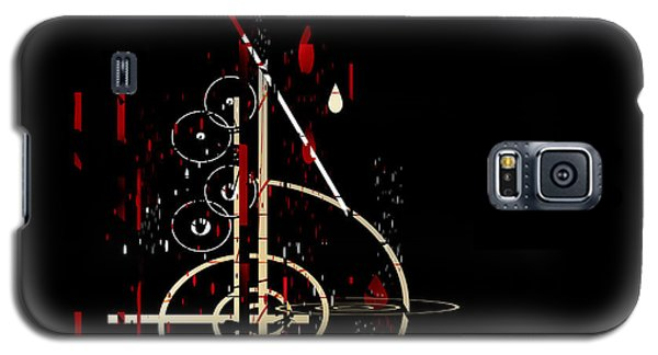 Galaxy S5 Case featuring the painting Penman Original - Untitled 96 by Andrew Penman