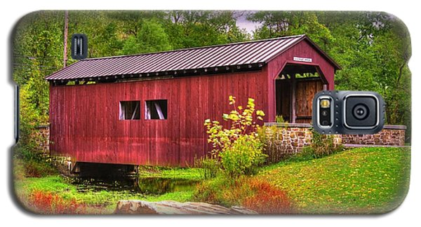 Pennsylvania Country Roads - Everhart Covered Bridge At Fort Hunter - Harrisburg Dauphin County Galaxy S5 Case