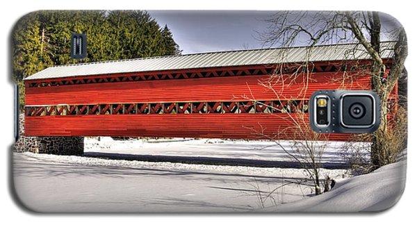 Pennsylvania Country Roads - Sachs Covered Bridge Over Marsh Creek B1 - Adams County Winter Galaxy S5 Case