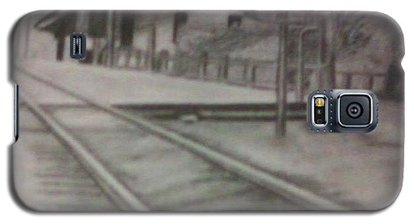 Galaxy S5 Case featuring the drawing Pennsylvania Railroad Station by Thomasina Durkay