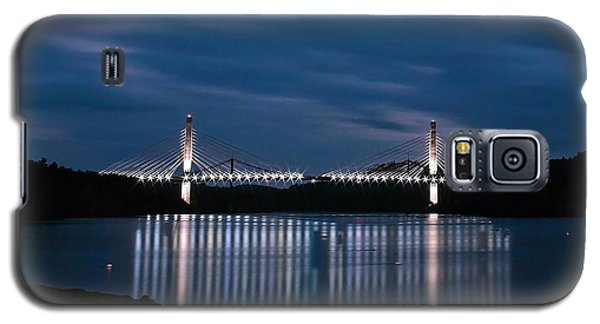 Penobscot Narrows Bridge And Observatory At Night Galaxy S5 Case by Barbara West