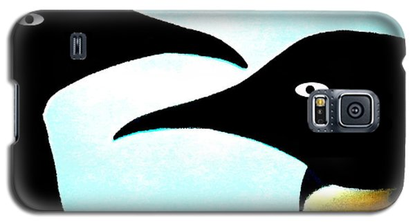 Galaxy S5 Case featuring the painting Penquin Love by Colette V Hera  Guggenheim