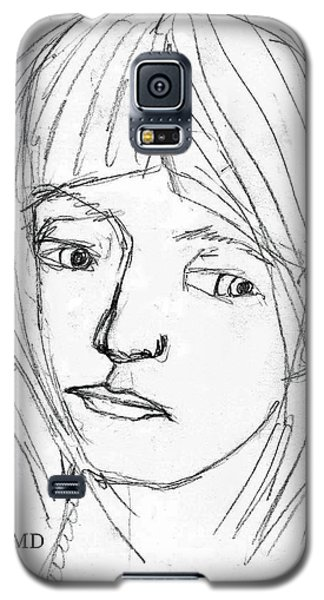 Pensive Girl Galaxy S5 Case by Michael Dohnalek