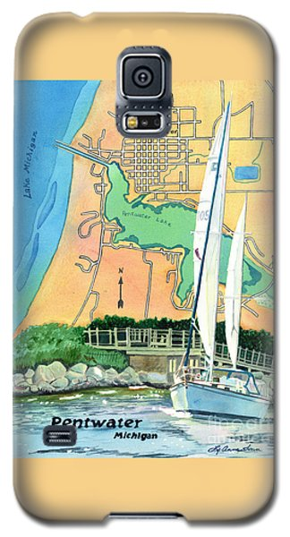 Pentwater Treasure Map Galaxy S5 Case