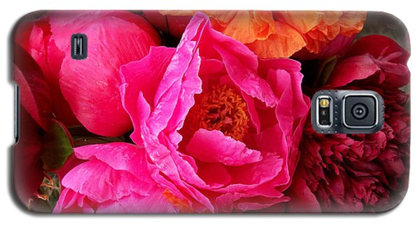 Peonies And Poppies Vibrant Bouquet Galaxy S5 Case