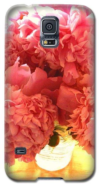 Galaxy S5 Case featuring the photograph Peonies by Karen Molenaar Terrell