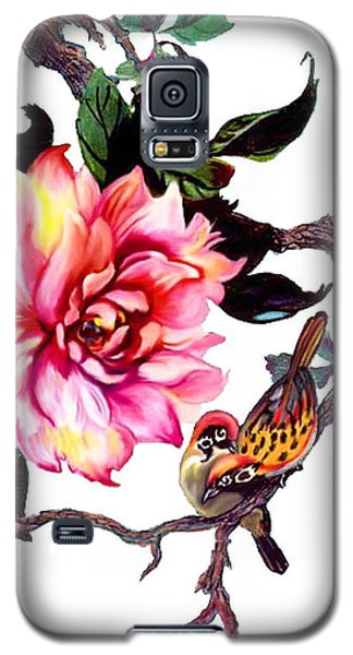 Peony And Birds Galaxy S5 Case