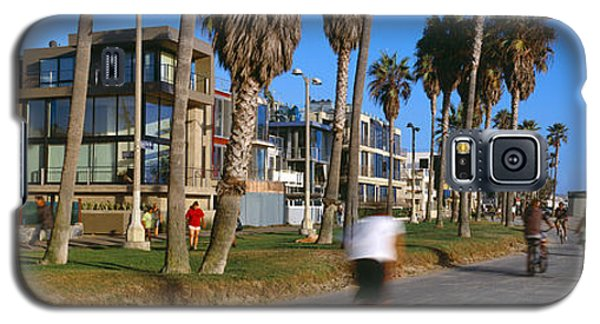 Venice Beach Galaxy S5 Case - People Riding Bicycles Near A Beach by Panoramic Images