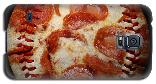 Pepperoni Pizza Baseball Square Galaxy S5 Case
