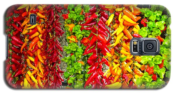 Galaxy S5 Case featuring the photograph Peppers For Sale by Mike Ste Marie
