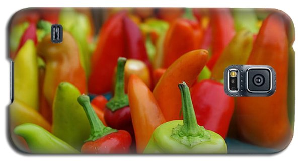 Galaxy S5 Case featuring the photograph Peppers Peppers And More Peppers by John S