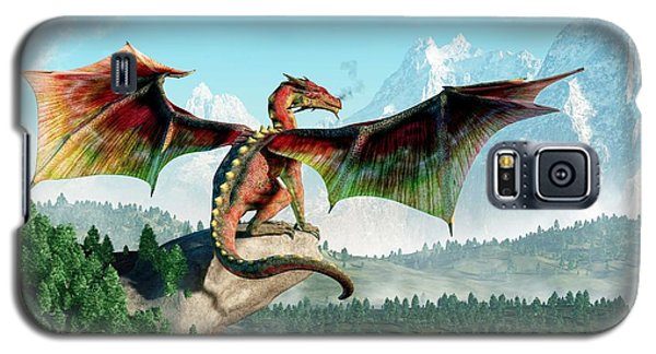 Dungeon Galaxy S5 Case - Perched Dragon by Daniel Eskridge