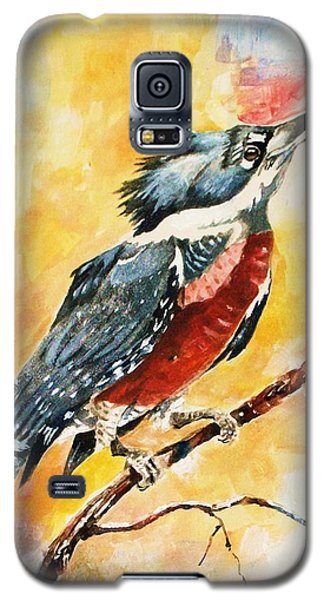 Perched Kingfisher Galaxy S5 Case by Al Brown