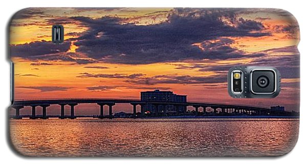 Perdido Bridge Sunrise Galaxy S5 Case by Michael Thomas