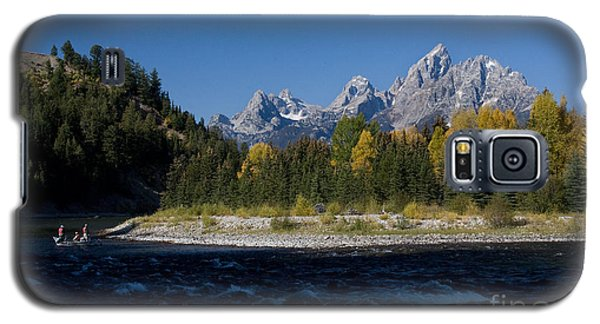 Perfect Spot For Fishing With Grand Teton Vista Galaxy S5 Case by Karen Lee Ensley