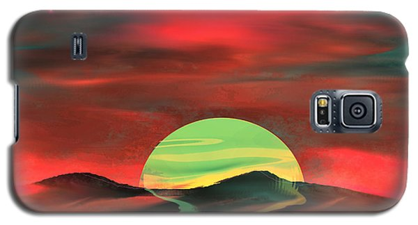 Galaxy S5 Case featuring the painting Perigee Moon by Yul Olaivar