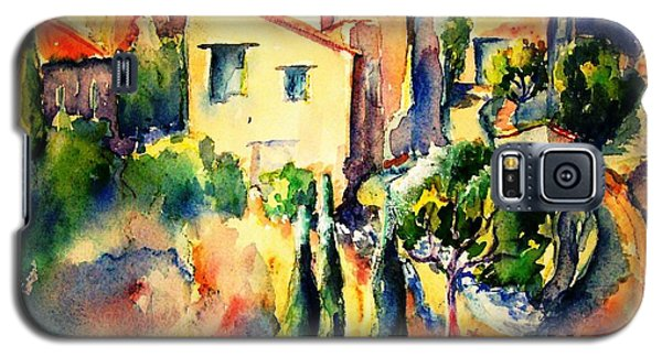Galaxy S5 Case featuring the painting Perillos Abandoned French Village    by Trudi Doyle