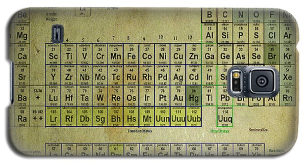 Galaxy S5 Case featuring the mixed media Periodic Table Of Elements by Brian Reaves
