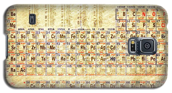 Periodic Table Of The Elements Vintage White Frame Galaxy S5 Case by Eti Reid