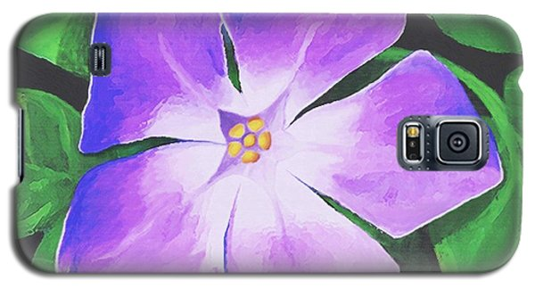 Galaxy S5 Case featuring the painting Periwinkle by Sophia Schmierer