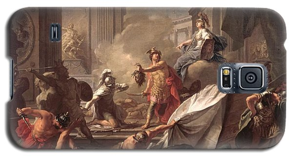 Perseus, Under The Protection Of Minerva, Turns Phineus To Stone By Brandishing The Head Of Medusa Galaxy S5 Case