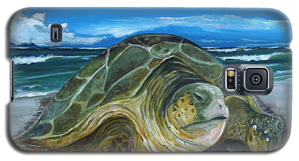 Galaxy S5 Case featuring the painting Perseverance by Dawn Harrell
