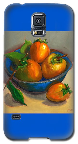 Persimmons In Blue Bowl Galaxy S5 Case