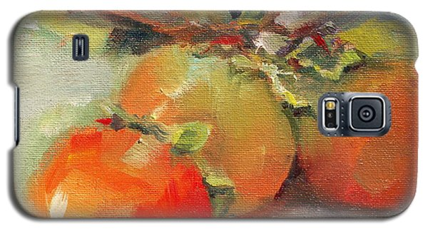 Galaxy S5 Case featuring the painting Persimmons by Michelle Abrams