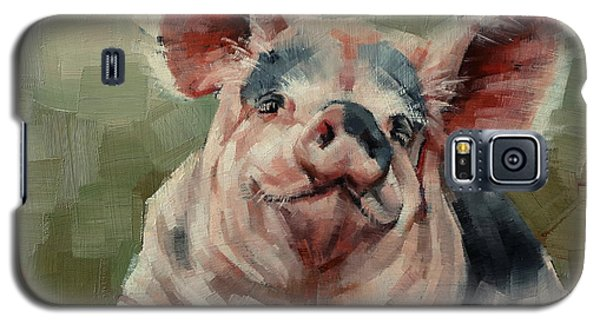 Personality Pig Galaxy S5 Case by Margaret Stockdale