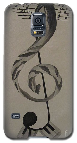 Galaxy S5 Case featuring the painting Personification Of Music by Jeepee Aero