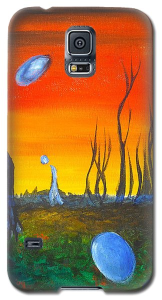 Galaxy S5 Case featuring the painting Pervasive Longings by Christophe Ennis