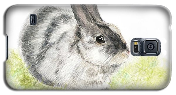 Pet Rabbit Gray Pastel Galaxy S5 Case