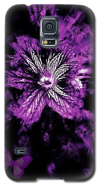 Petals From The Purple Galaxy S5 Case