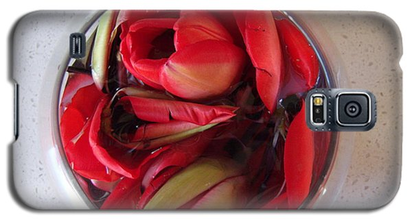 Galaxy S5 Case featuring the photograph Petals In Vase  by Conor Murphy