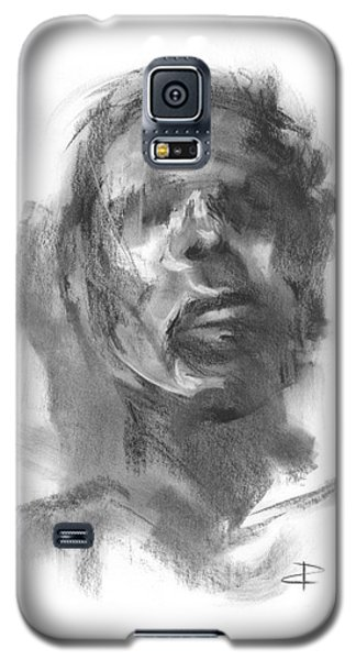 Galaxy S5 Case featuring the drawing Pete by Paul Davenport