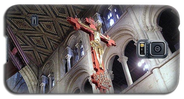 Galaxy S5 Case featuring the photograph Peterborough Cathedral England by Jolanta Anna Karolska
