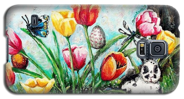 Galaxy S5 Case featuring the painting Peters Easter Garden by Shana Rowe Jackson