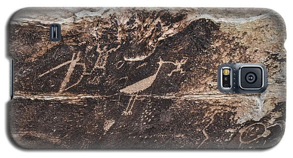 Petroglyph Bird Galaxy S5 Case by Cheryl McClure