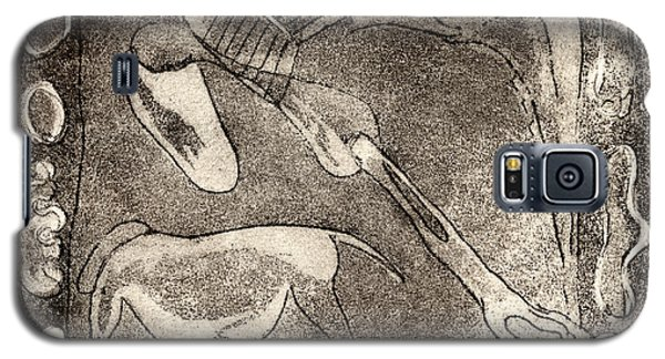 Petroglyph - Horse Takhi And Stones - Prehistoric Art - Cave Art - Rock Art - Cave Painters Galaxy S5 Case