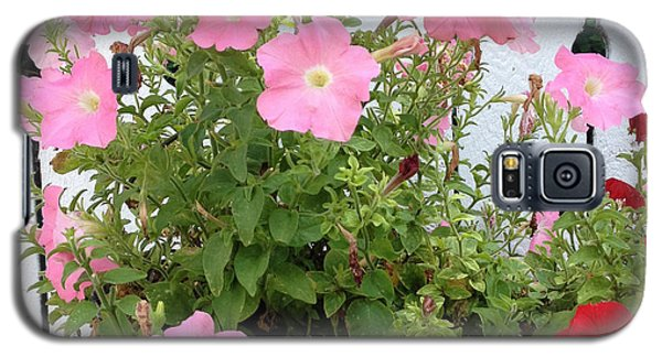 Galaxy S5 Case featuring the photograph Petunia Picket Fence by Peg Toliver