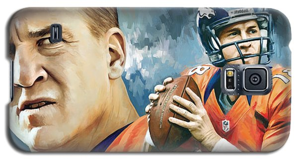 Peyton Manning Artwork Galaxy S5 Case by Sheraz A