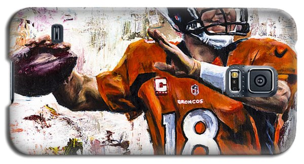 Peyton Manning Galaxy S5 Case by Mark Courage