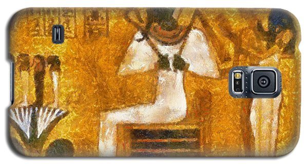 Galaxy S5 Case featuring the painting Pharaoh  by Georgi Dimitrov